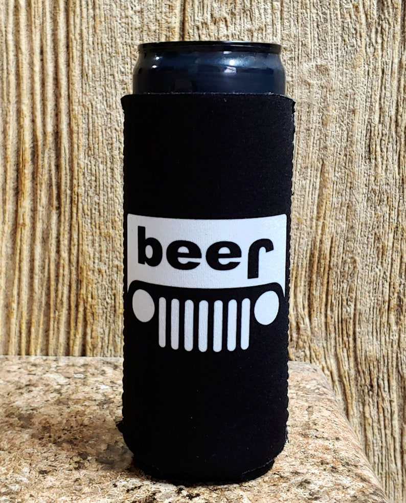 jeep Thick Foam Old School Funny Can Coolie Coolie Junction Beer Truck