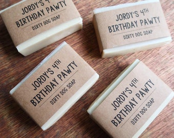Small Customized Dog Soap Party Favors - 3.5 oz