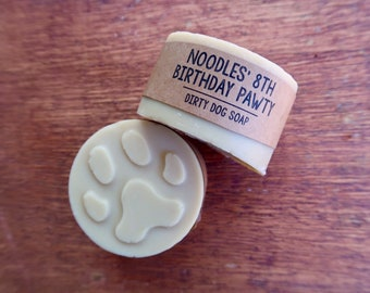 20 Customized Dog Soap Party Favors - 5.5 oz