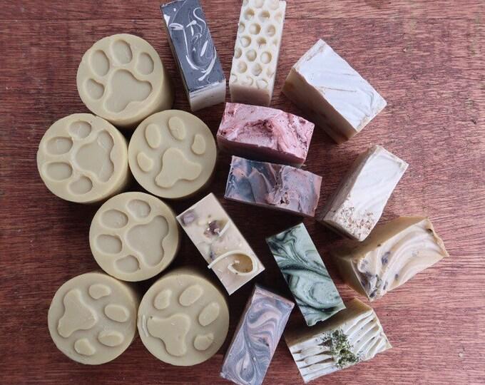 4 Mystery Human soap, 2 Dog Soap