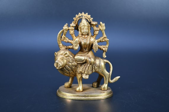Kali Spirituelle Göttin Handgemachte Göttin Statue Kali Bronze Messing-ST-04