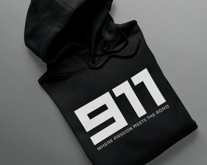 911 Hoodie - Where Passion Meets The Road