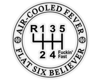 Air-Cooled Fever, Flat Six Believer - Sticker