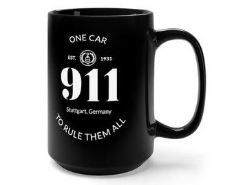 One Car To Rule Them All Black Mug 15oz