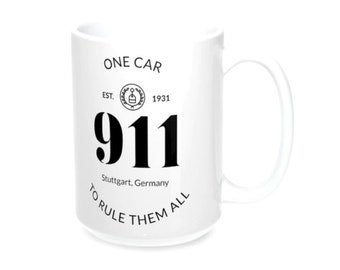 911 One Car To Rule Them All White Mug 11oz