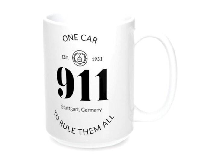 911 One Car To Rule Them All White Mug 11oz