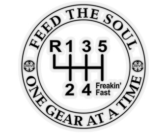 Feed The Soul One Gear At A Time 3 Sticker