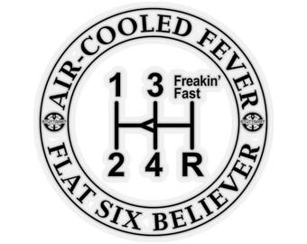 Air-Cooled Fever, Flat Six Believer 3 Sticker