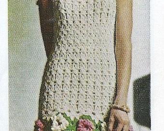 Vintage crochet dress pattern