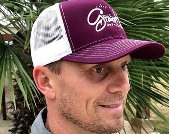 7e597781210 Grasshole Outfitters Richardson Maroon White Fishing Hat