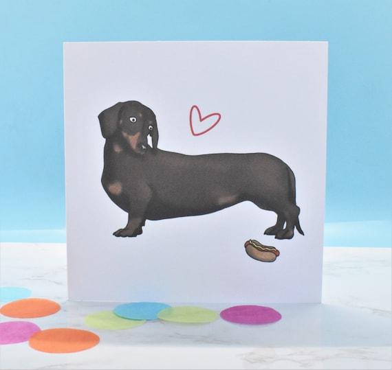 Dachshund Birthday Card Cute Sausage Dog Greeting Card NEW