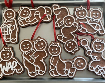 Gingerbread Naughty Christmas Ornament