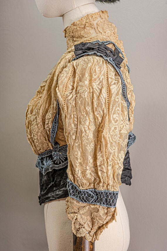 Antique Edwardian Stunning Lace and Embroidered B… - image 5