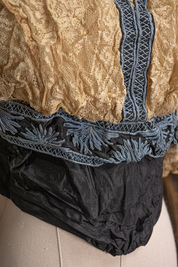 Antique Edwardian Stunning Lace and Embroidered B… - image 3