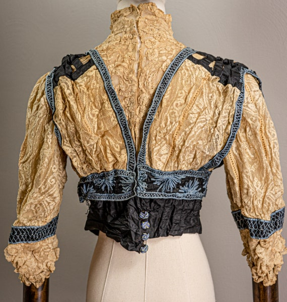Antique Edwardian Stunning Lace and Embroidered B… - image 6