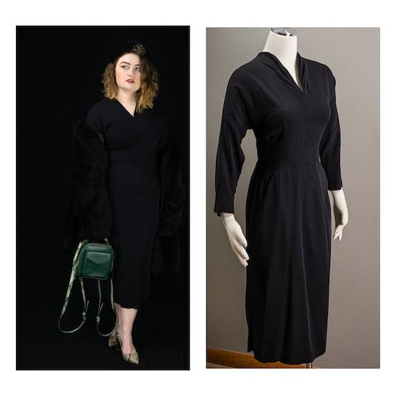 Vintage Designer 40s/50s Sexy Little Black wiggle