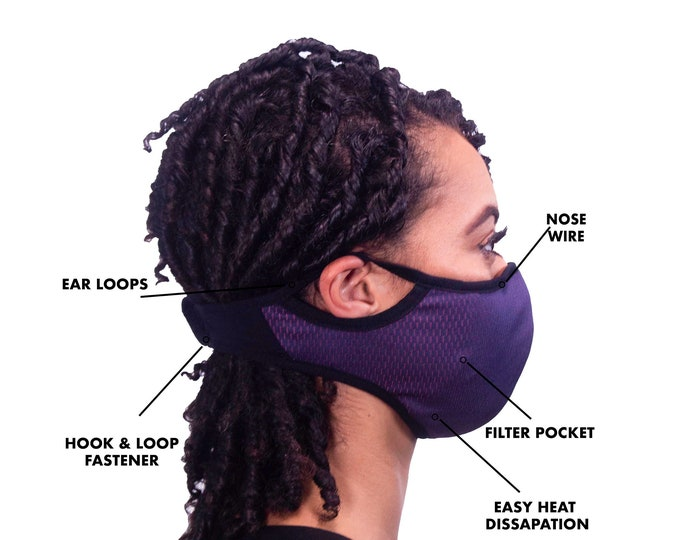 Featured listing image: Free Filter ePeak Active Sports Face Mask. Washable. Multiple Colors in S/M Sizes. Limited Quantity!