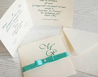 Partecipazioni Matrimonio Azzurro Polvere : Buste partecipazioni etsy