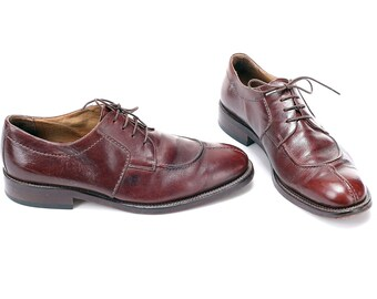 93f513e04e1f Us men 10 Vintage Oxford Shoes Men s 80s Brown Leather Vintage Lace Up  Brogues Office Work Derby Vintage Shoes made in Italy Eur 44 Uk 9.5