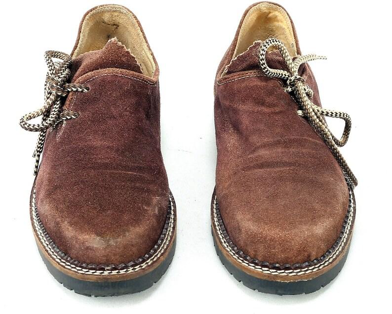 b8bdc8baf85ed Us women 8.5 Driver Loafers 80s Platform Octoberfest Shoes Brown Suede  Flats 1980s Suede Leather Shoes Wide Fit Vintage Size Eur 39 , Uk 6