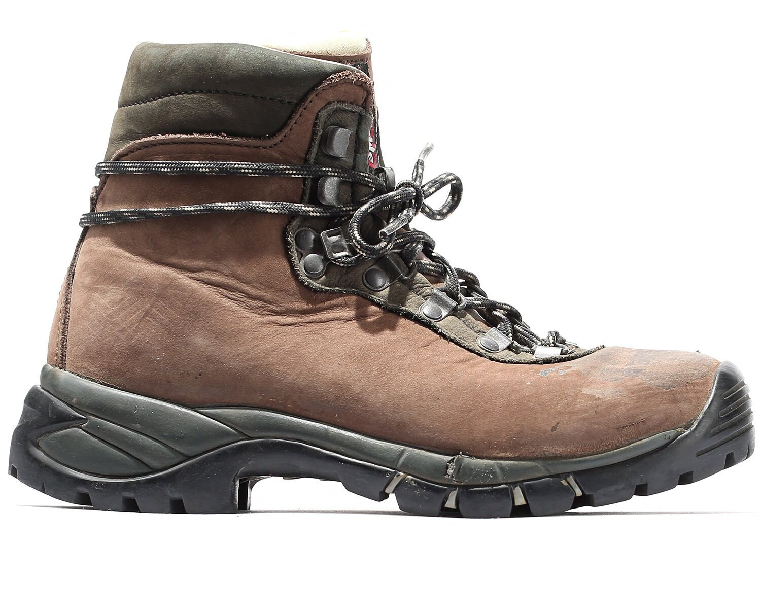 d52a9364752 US wom 6 Raichle Mountain Boots 90s Swiss Hiking Trekking Brown Nubuck  Leather Boots Wild TRAIL Camping Boots Mountaineering Eu 36.5 UK 3.5