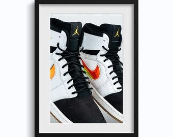 best sneakers 434d9 7f5c2 Nike Air Jordan 1 Chrome OFFSET  Premium Quality Hype Hypebeast Michael  Jordan Sneaker Street Art Poster Wall Decor Collection