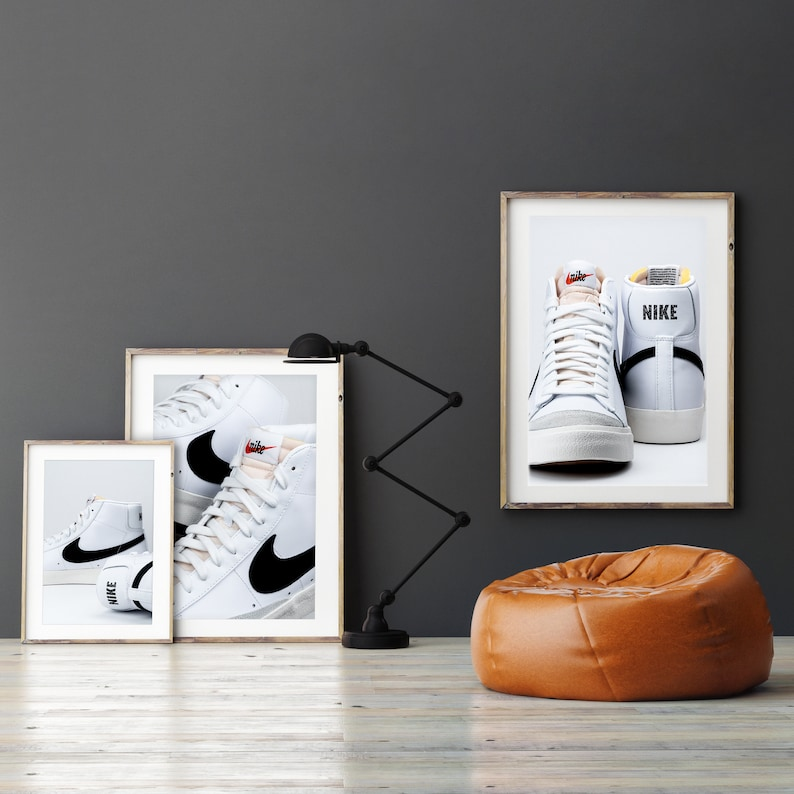 Nike Blazer Mid 77 Vintage HERO* Premium Hypebeast Sneaker Home Wall Classic Limited Decor Poster Photography Art Poster
