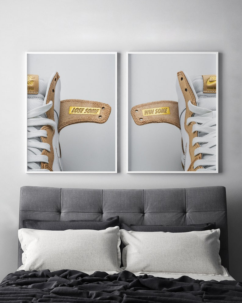 new style 62d9f 9626a SET of TWO Prints* Win Some Lose Some Posters* Nike SB Dunks Sneaker  Photography Wall Decor Hype Art Photography Gold Gallery Collection