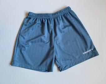 Umbro blue shorts Logo tracksuit vintage pants oversized shorts loungewear Sportswear Track Stripes high waisted size  L