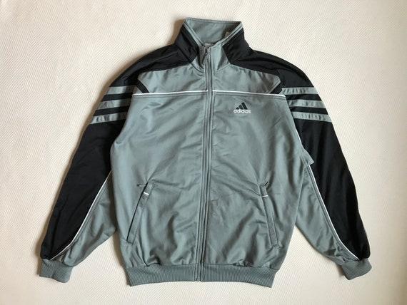 Vintage Grey Off White Adidas Track Jacket