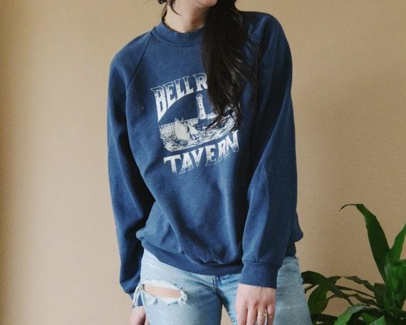80s Bellrock Tavern Raglan Crewneck Sweatshirt