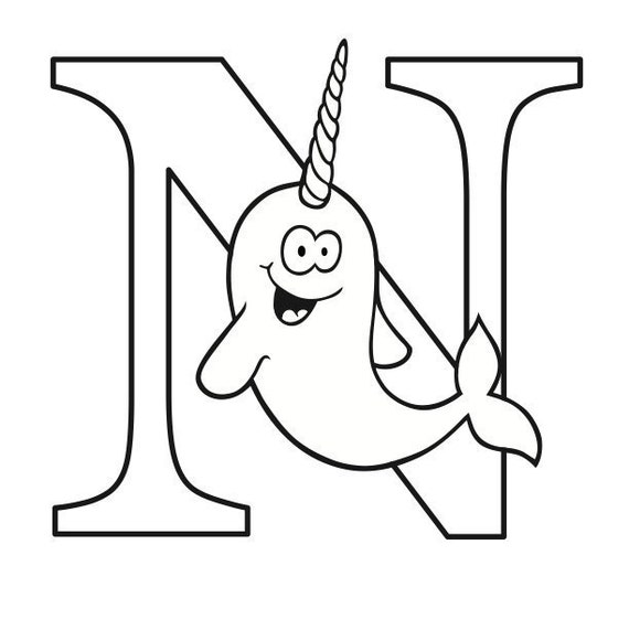 Letter N Coloring Page Etsy