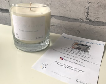 0b710918 The Light Gets In- charity candle in collab with Feathering the Empty Nest.