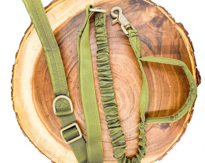 Pre-Order ~ Army Green Tactical Leash