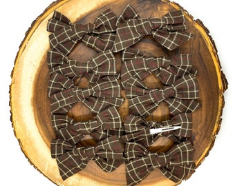 Chocolate Check Bow