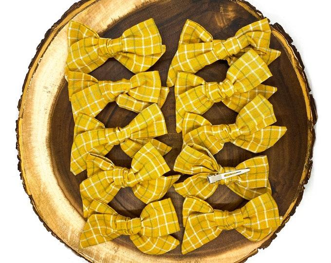 Mustard Check Bow