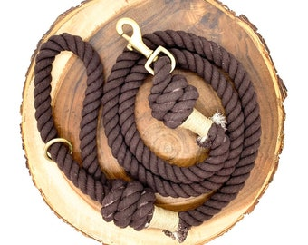 Coffee Cotton Rope Leash