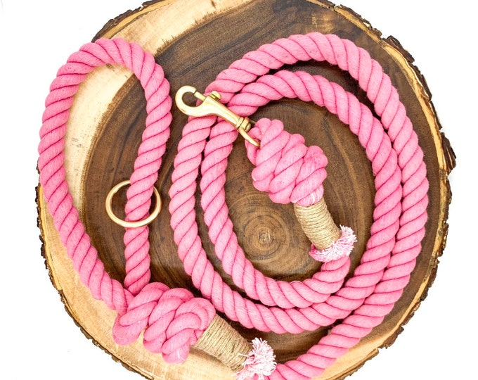Bubblegum Cotton Rope Leash