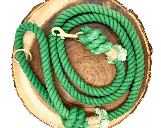 Evergreen Cotton Rope Leash