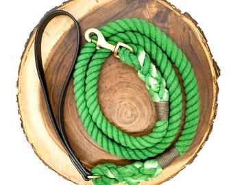 Evergreen Leather Strap Leash