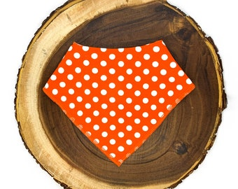 Orange Polka Dot Bandana