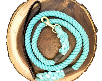 Caribbean Leather Strap Leash