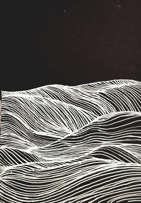Black Gel Pen White Geometric Design Minimalist Style Simple