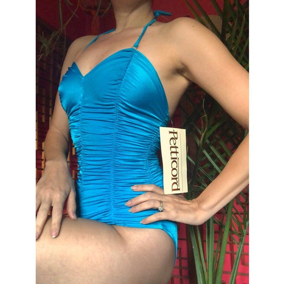 Vintage Petticord Ruched Bathing Suit