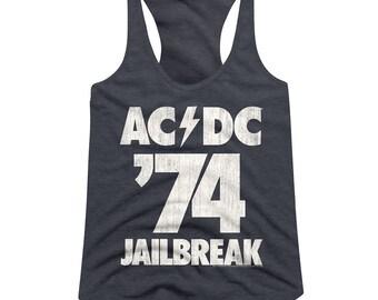 e7e4d55b501cd1 ACDC  74 Jailbreak  Racerback Tank