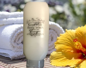 Goat Milk Body Wash Shower Soap Creamy Moisturizing Luxurious Natural Organic 4 oz or 8 oz Choose Scent Liquid Soap