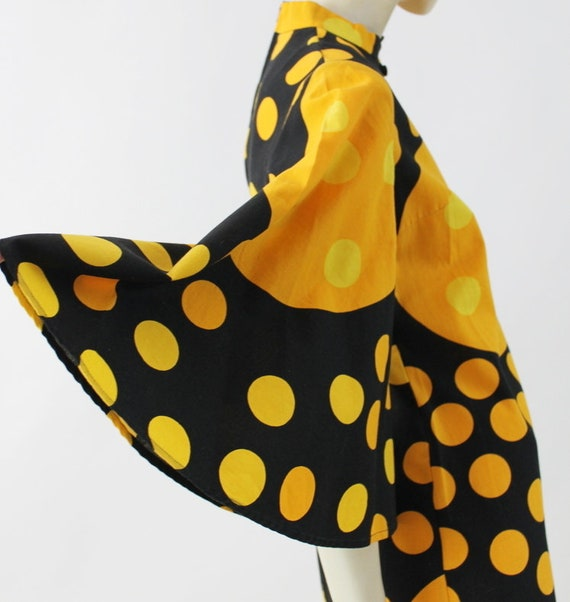 1960s Polka dot mod dress with bell sleeves