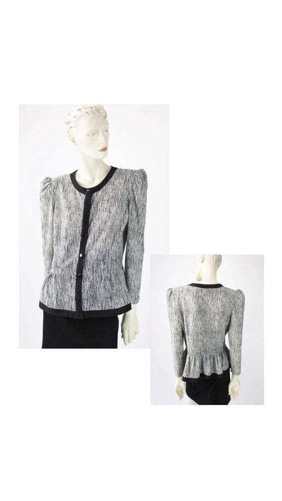 1980s zebra print blouse/vintage print/ animal pri