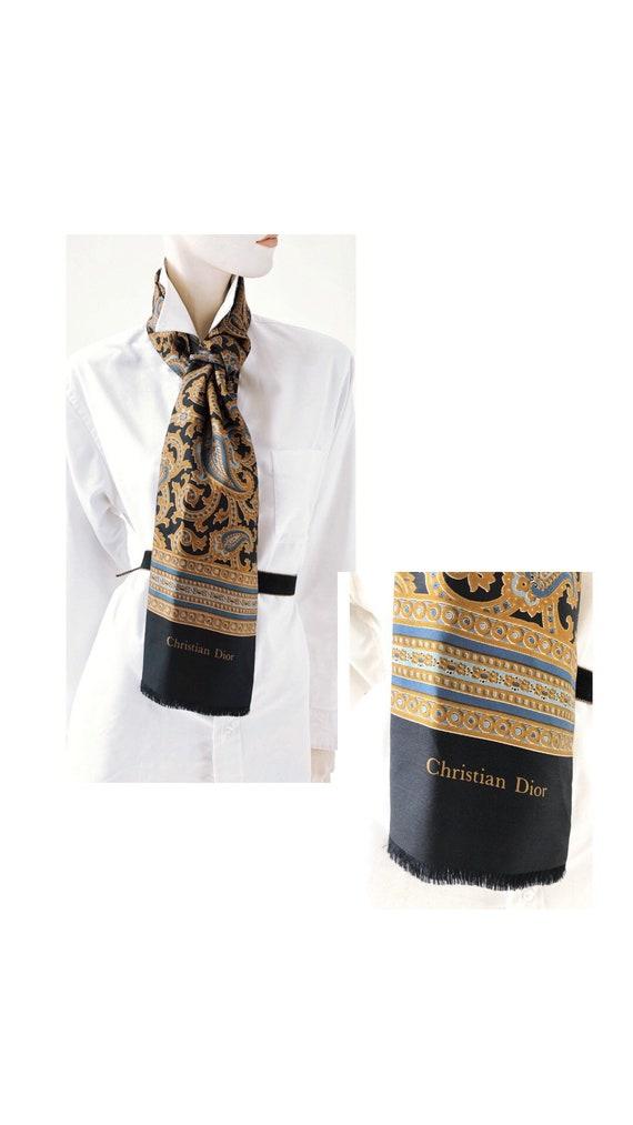1980s Vintage DIOR scarf//Vintage scarf//Vintage D