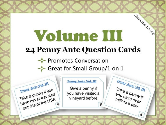 graphic regarding Printable Trivia for Seniors named 24 Penny Ante Speculate Trivia Playing cards Penny Ante Activity Issues Printable  How in the direction of Enjoy Penny Ante Incorporate Oneself At any time